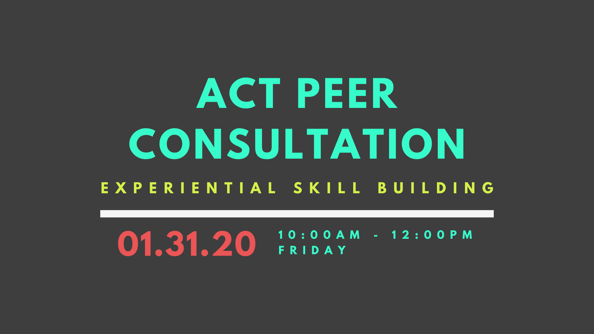 act peer consultation