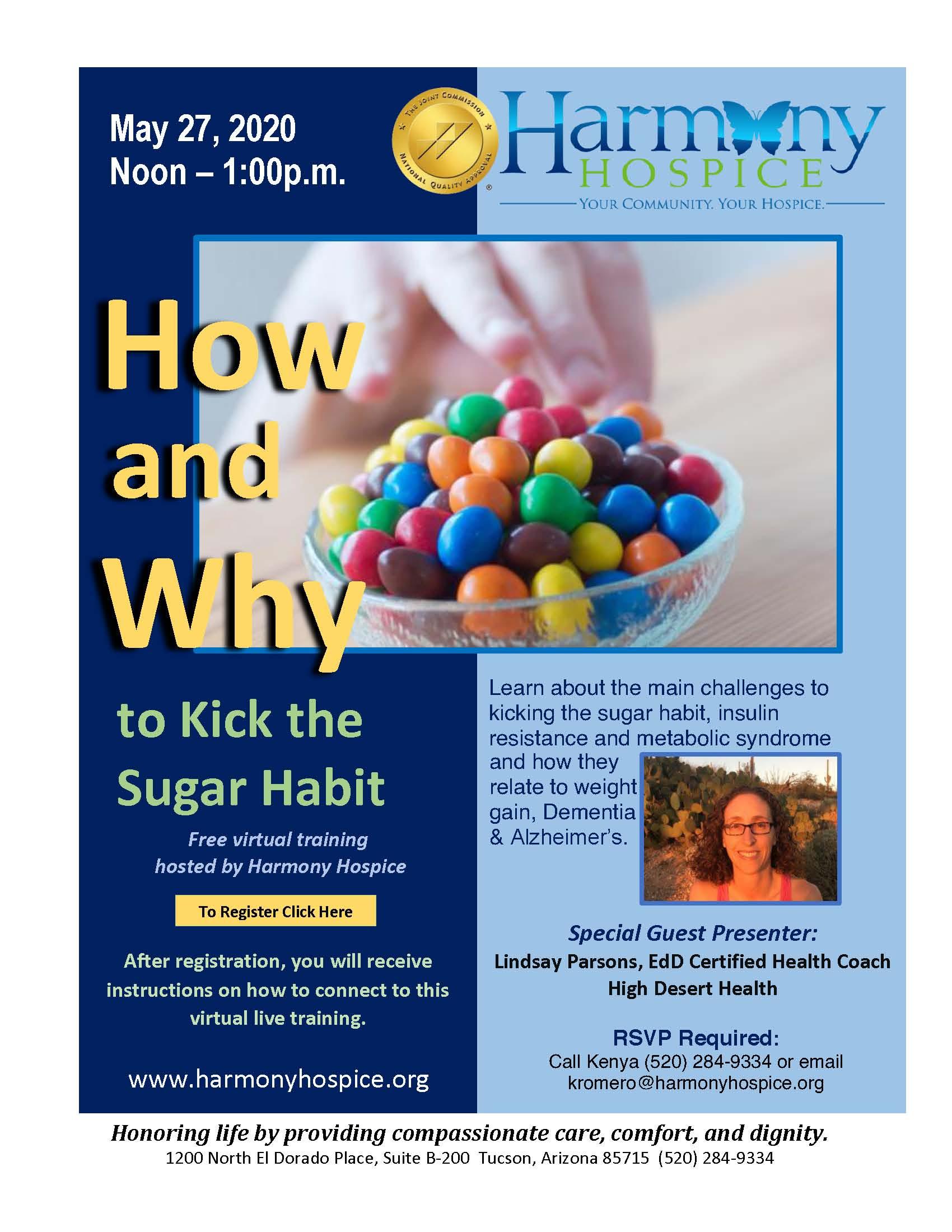 Harmony Hospice talk flyer